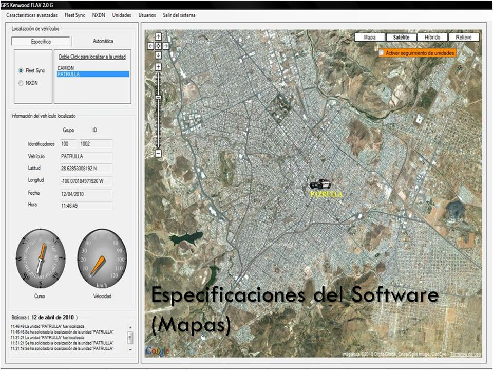 Especificaciones del Software (Mapas)