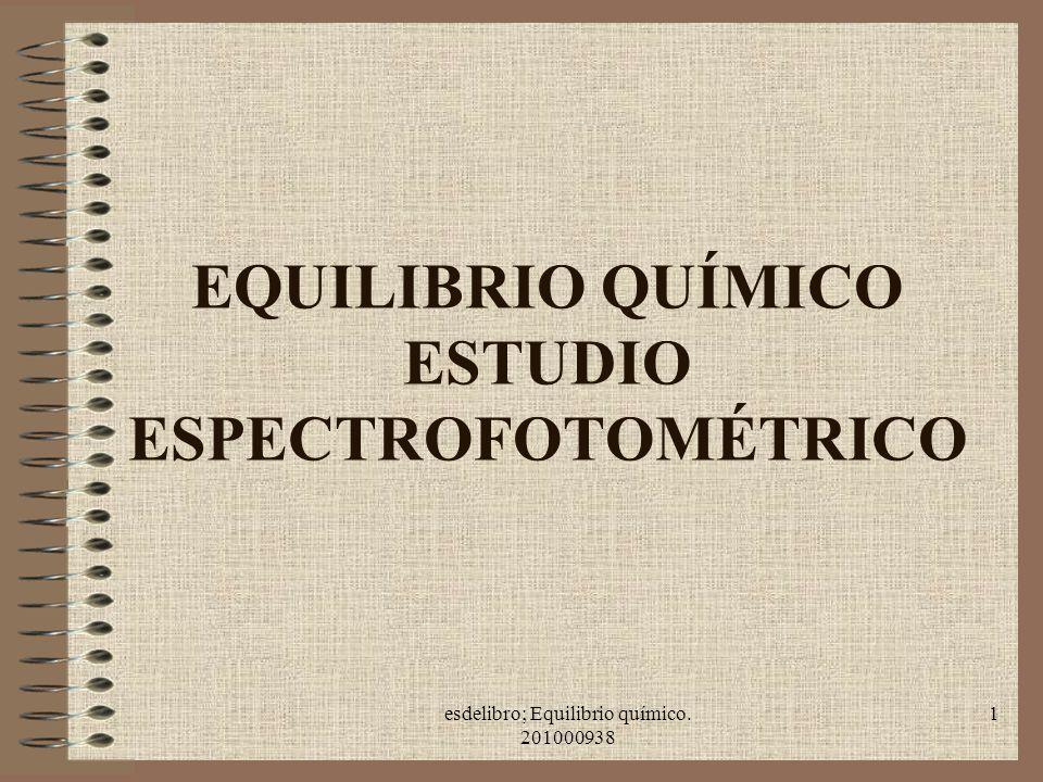 EQUILIBRIO QUÍMICO ESTUDIO ESPECTROFOTOMÉTRICO