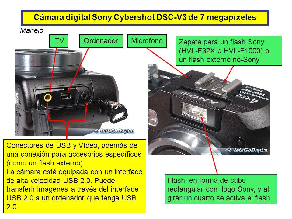 Cámara digital Sony Cybershot DSC-V3 de 7 megapíxeles