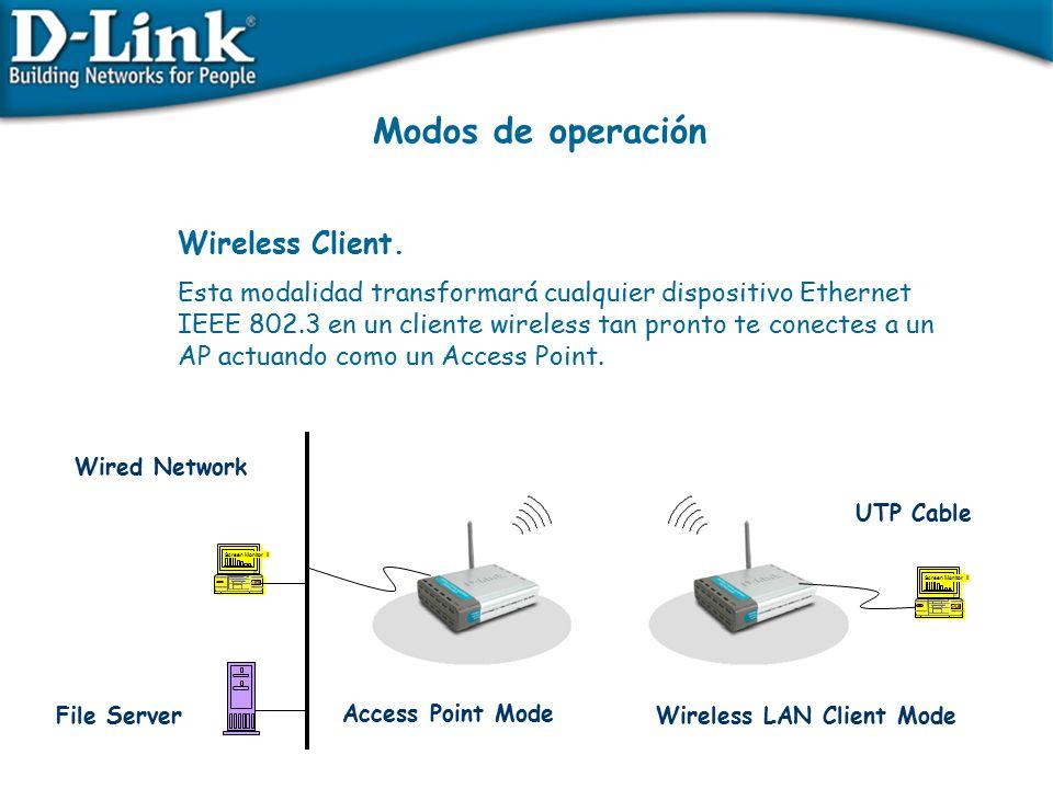 Modos de operación Wireless Client.