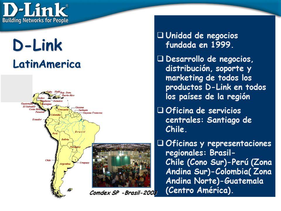D-Link LatinAmerica Unidad de negocios fundada en 1999.