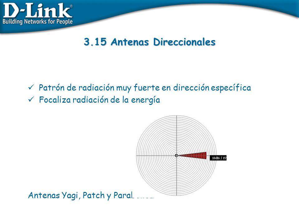 3.15 Antenas Direccionales