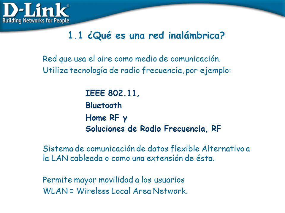 1.1 ¿Qué es una red inalámbrica