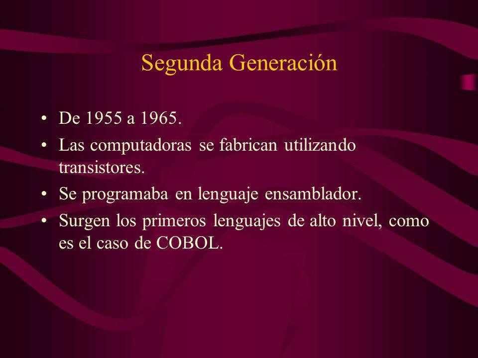 Segunda Generación De 1955 a 1965.