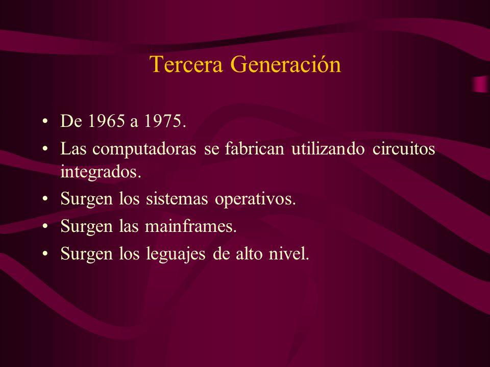 Tercera Generación De 1965 a 1975.