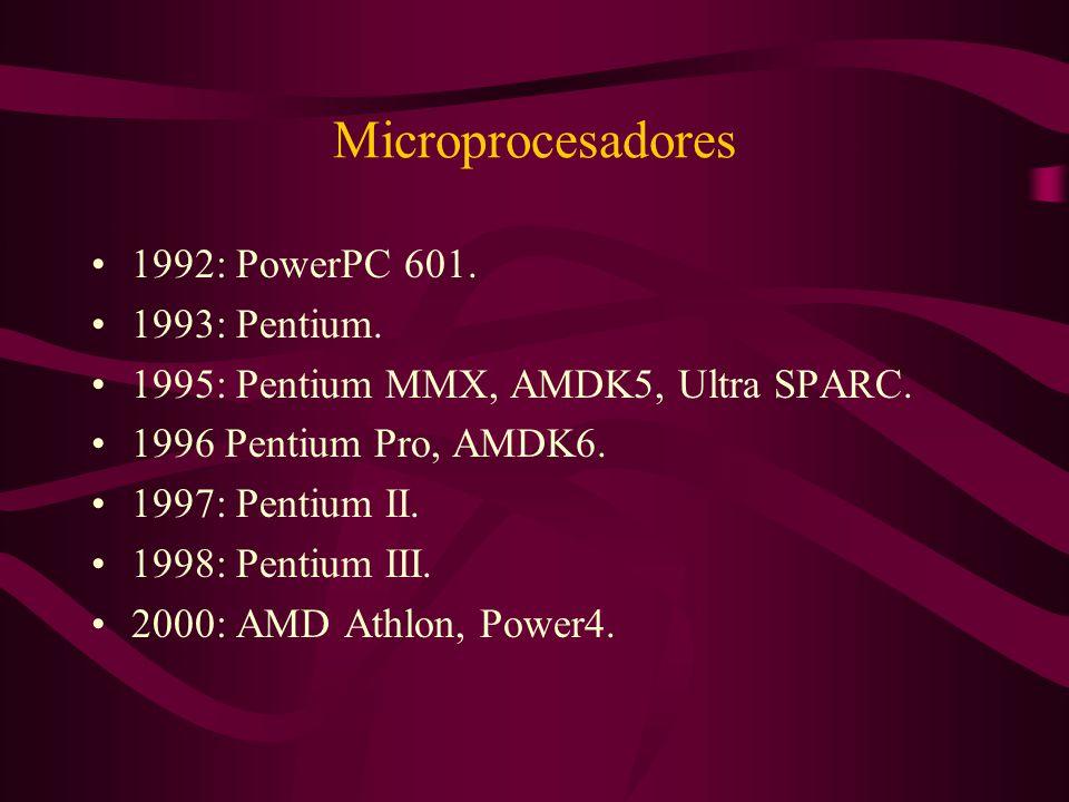 Microprocesadores 1992: PowerPC 601. 1993: Pentium.