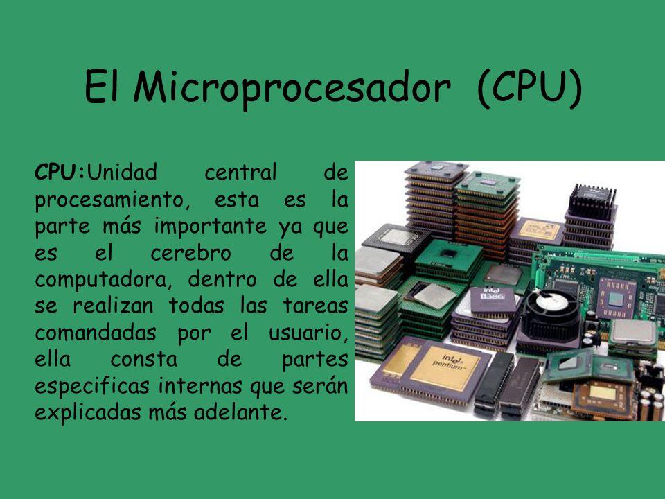 El Microprocesador (CPU)