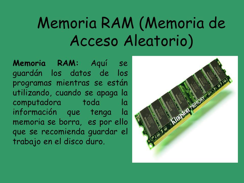 Memoria RAM (Memoria de Acceso Aleatorio)