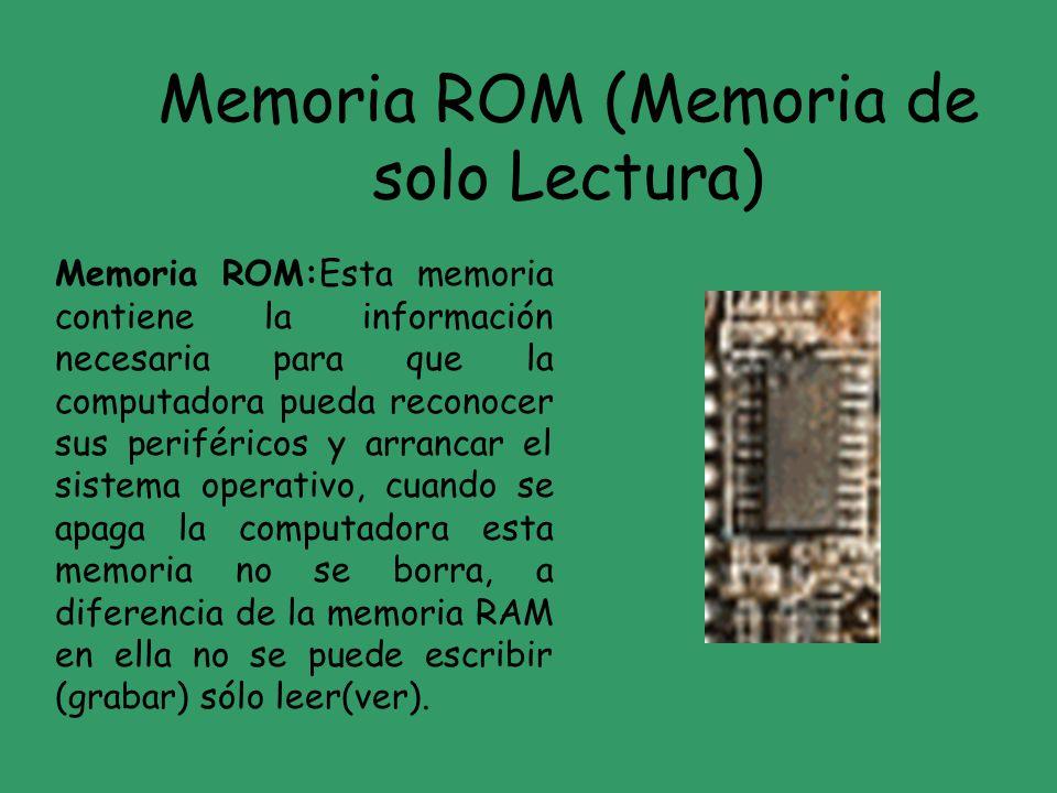 Memoria ROM (Memoria de solo Lectura)