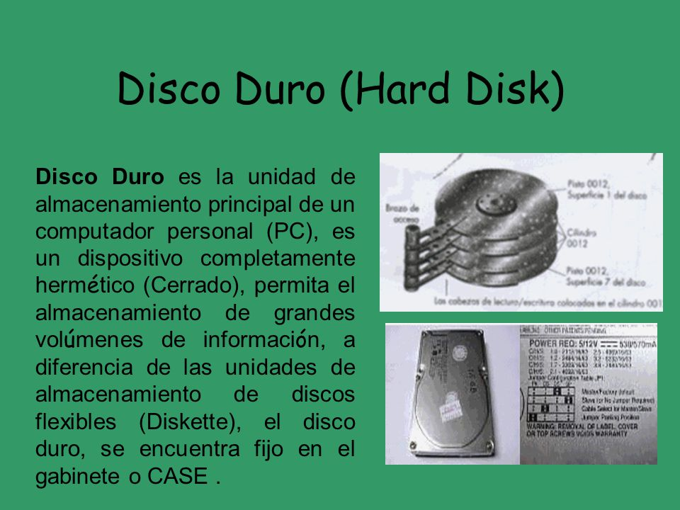 Disco Duro (Hard Disk)