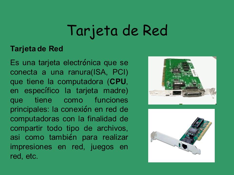 Tarjeta de Red Tarjeta de Red