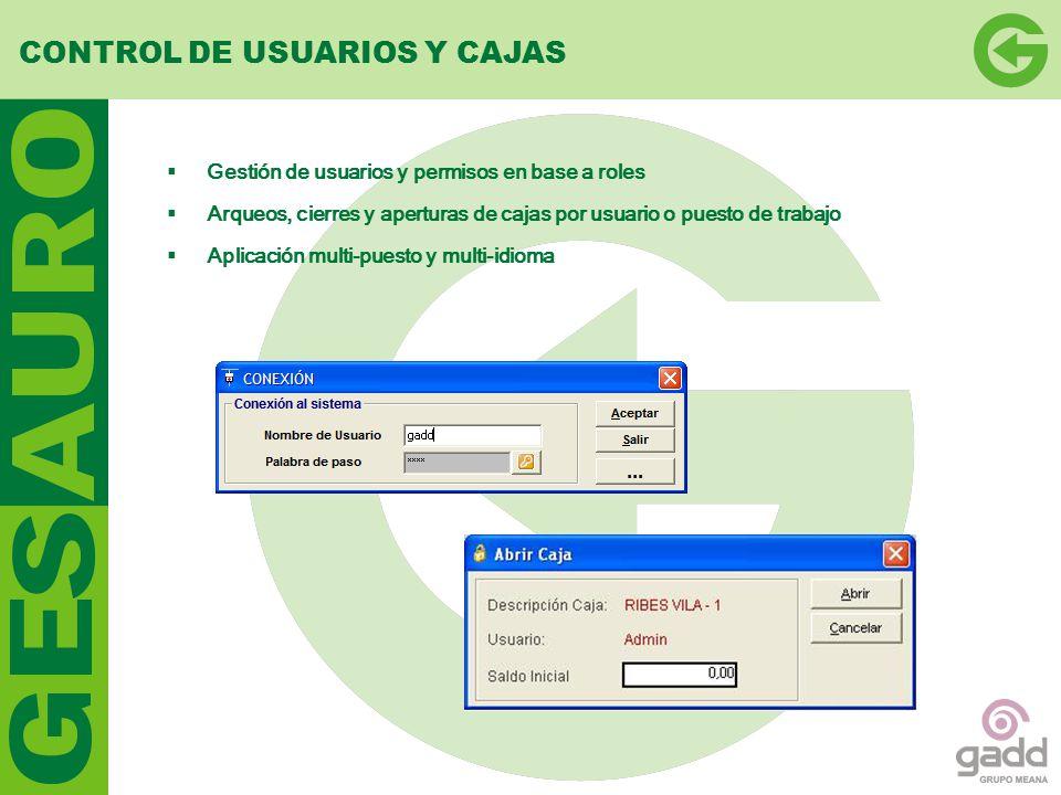 CONTROL DE USUARIOS Y CAJAS