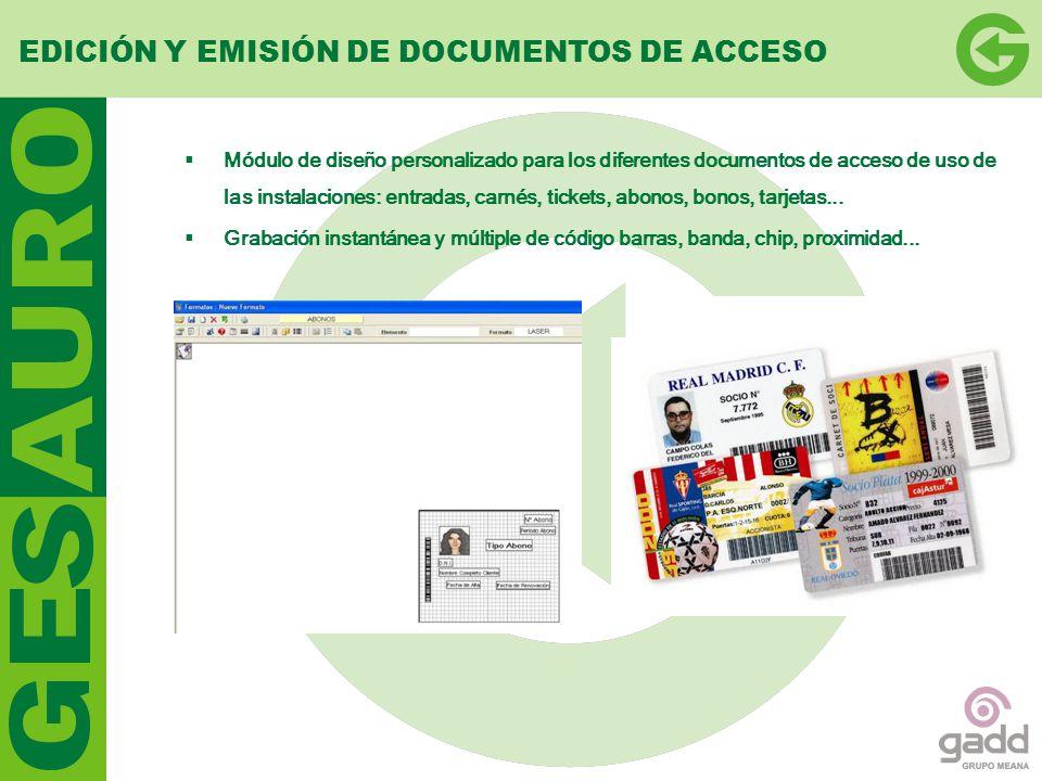 EDICIÓN Y EMISIÓN DE DOCUMENTOS DE ACCESO