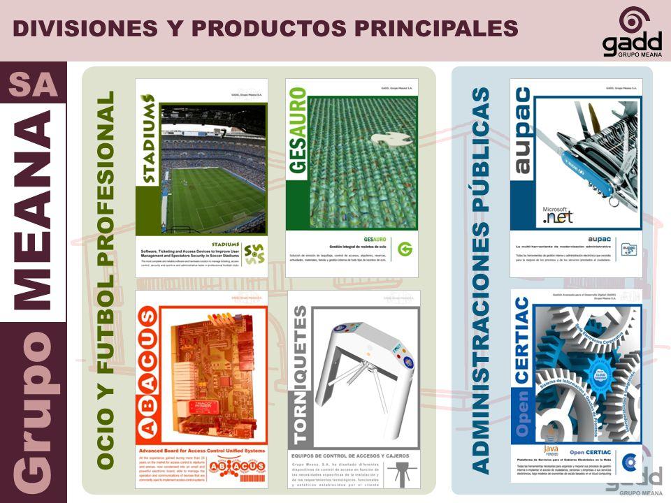 DIVISIONES Y PRODUCTOS PRINCIPALES