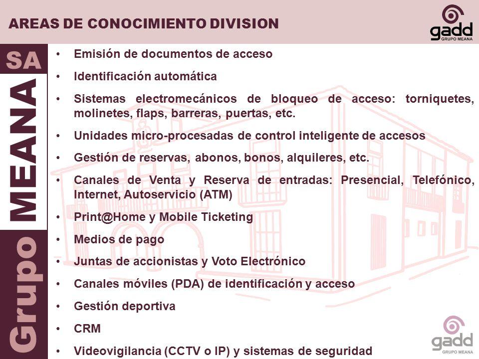AREAS DE CONOCIMIENTO DIVISION