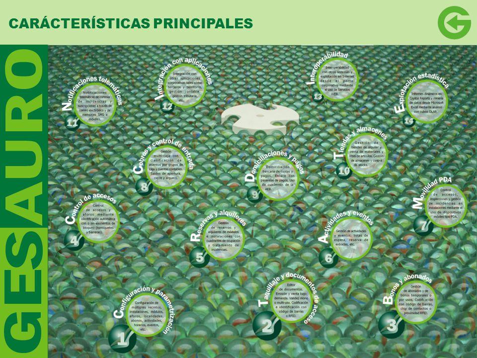 CARÁCTERÍSTICAS PRINCIPALES