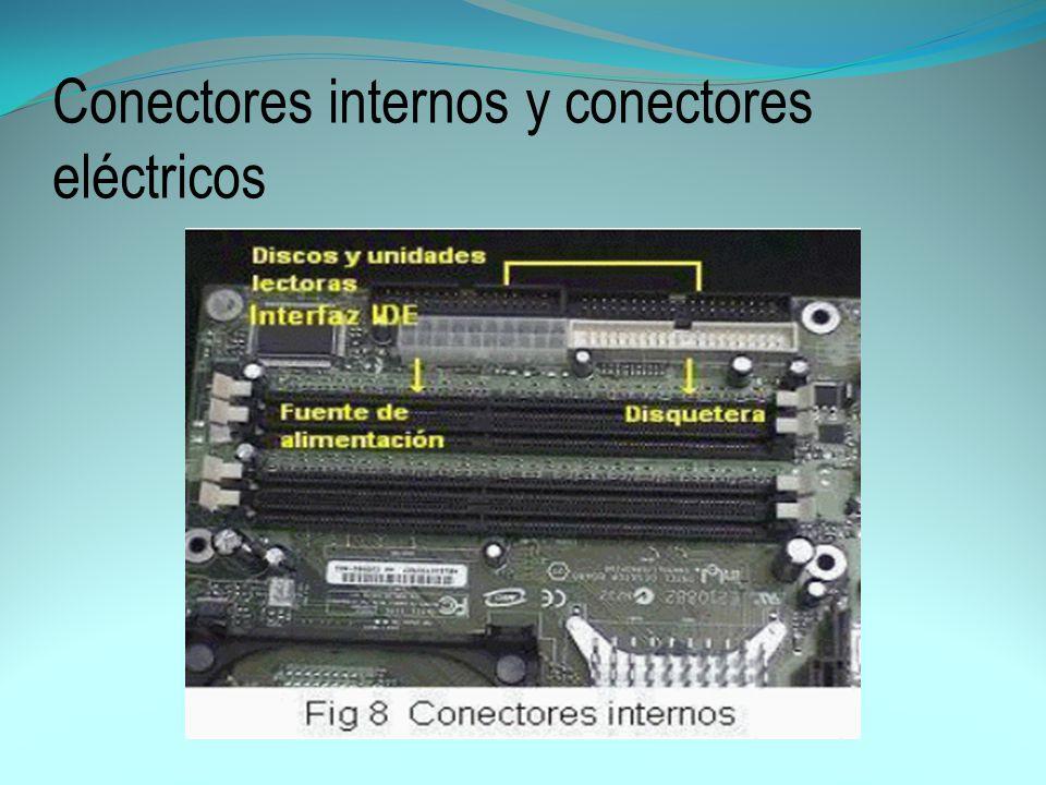 Conectores internos y conectores eléctricos