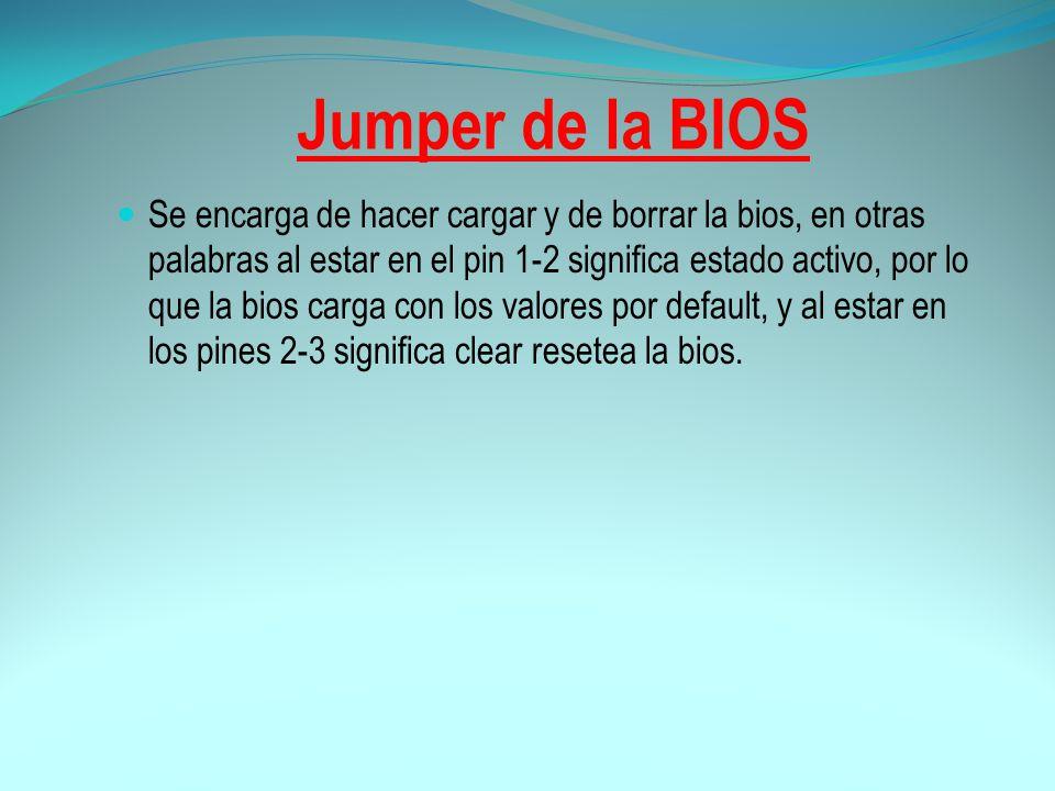 Jumper de la BIOS