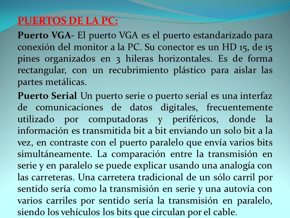 PUERTOS DE LA PC: