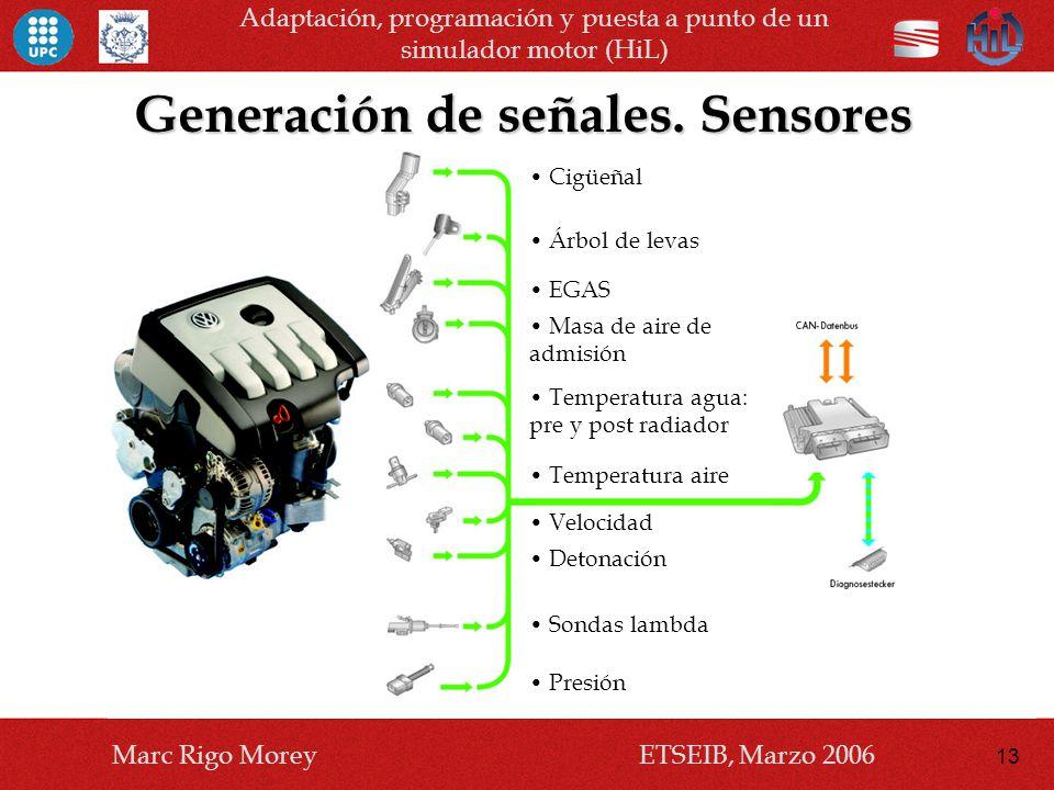 Generación de señales. Sensores