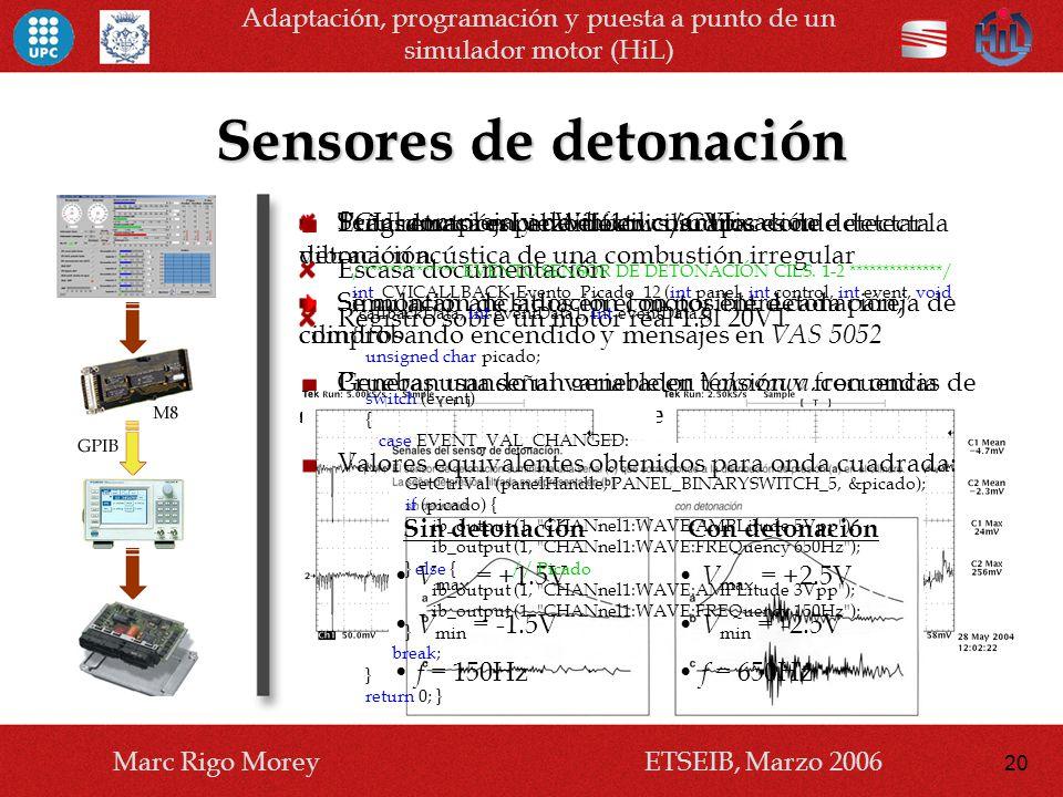 Sensores de detonación