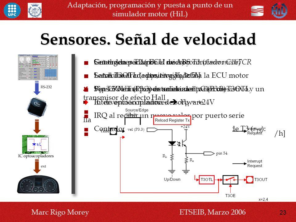 Sensores. Señal de velocidad