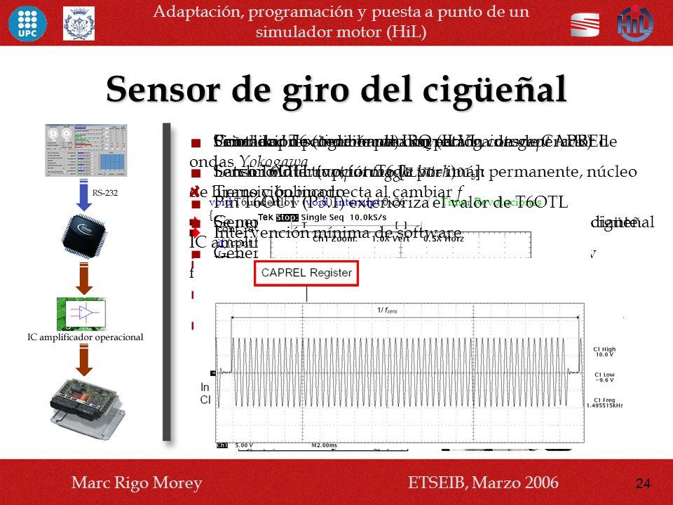 Sensor de giro del cigüeñal