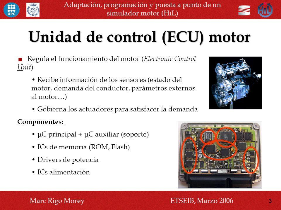 Unidad de control (ECU) motor