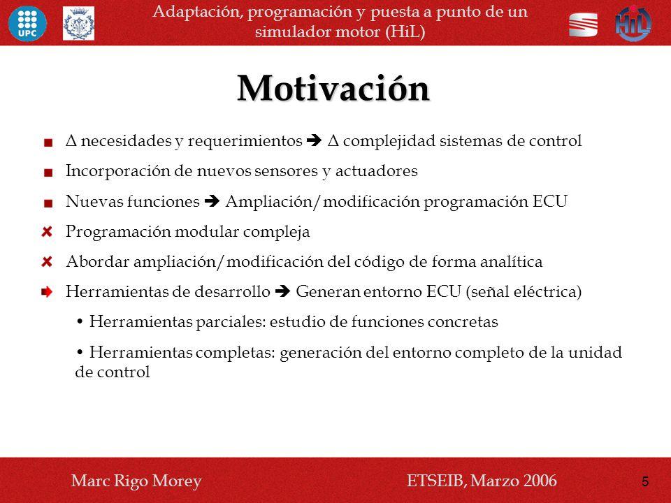Adaptación, programación y puesta a punto de un simulador motor (HiL)