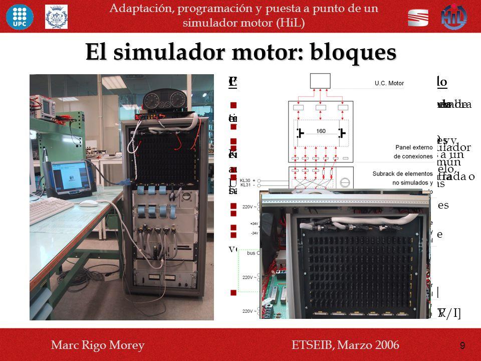 El simulador motor: bloques