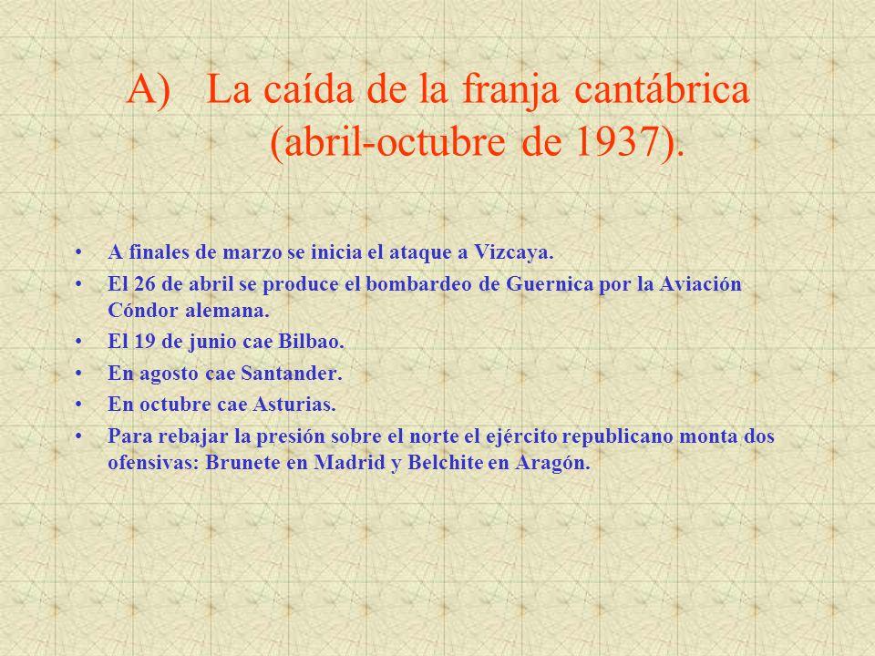 La caída de la franja cantábrica (abril-octubre de 1937).