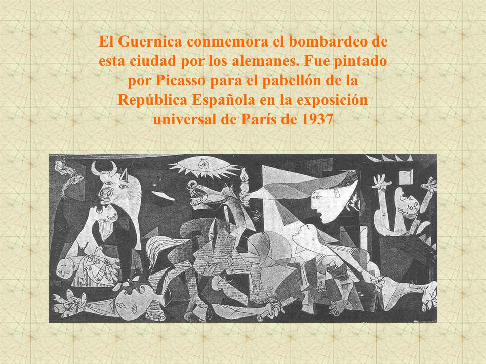 El Guernica conmemora el bombardeo de esta ciudad por los alemanes
