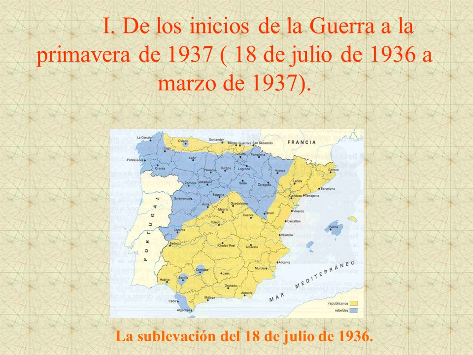 La sublevación del 18 de julio de 1936.