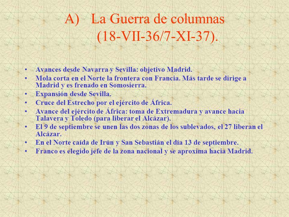 La Guerra de columnas (18-VII-36/7-XI-37).