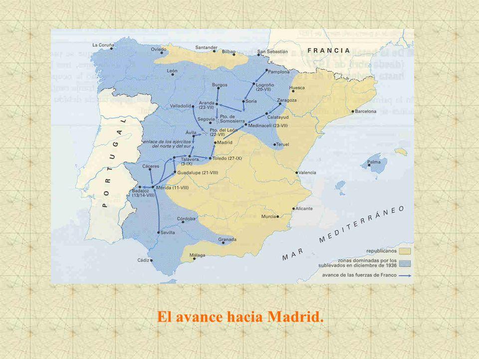 El avance hacia Madrid.