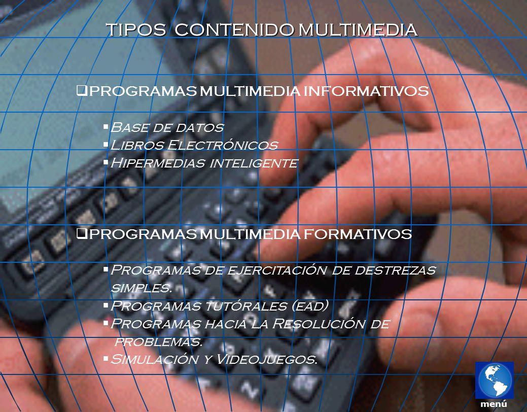 TIPOS CONTENIDO MULTIMEDIA