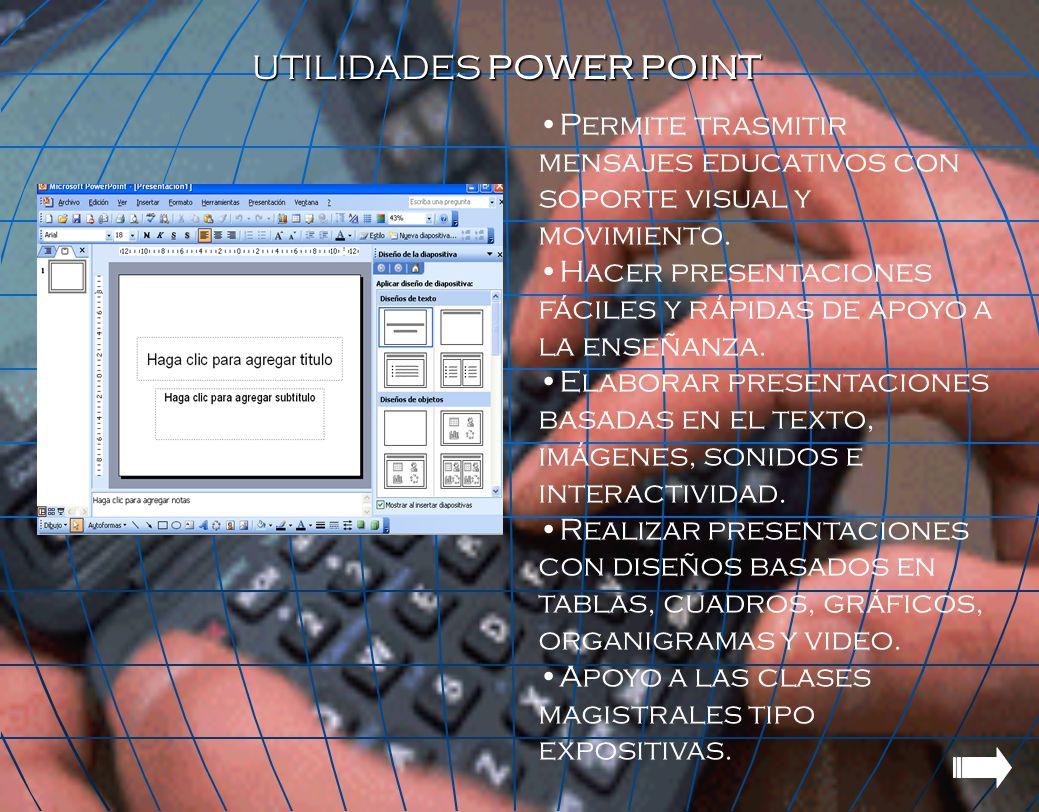 UTILIDADES POWER POINT