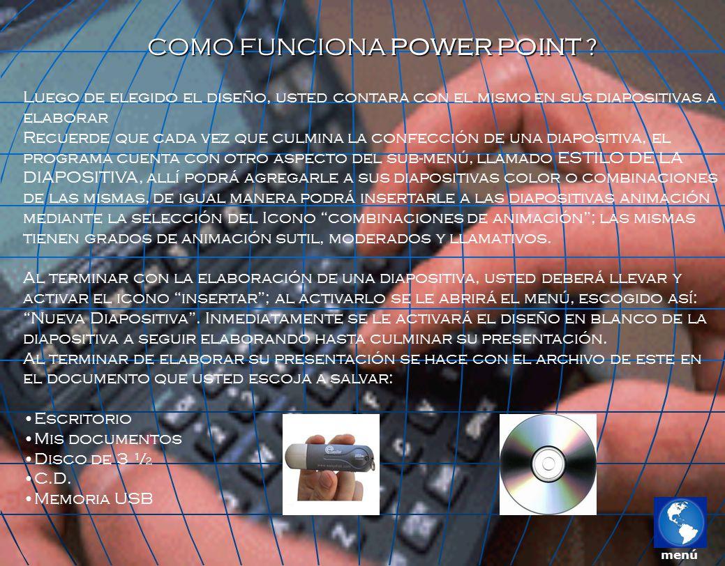 COMO FUNCIONA POWER POINT