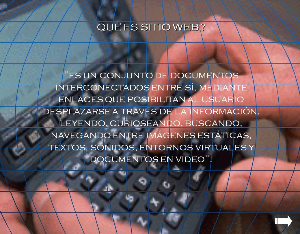 QUÉ ES SITIO WEB