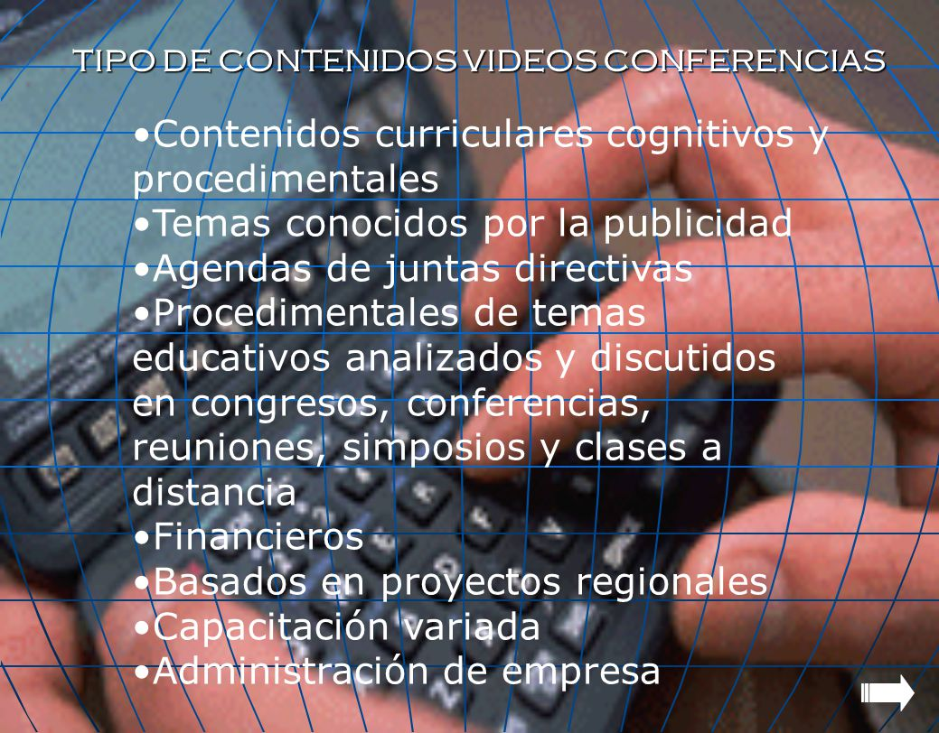 Contenidos curriculares cognitivos y procedimentales