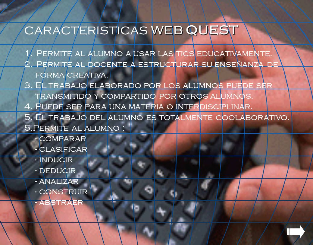 caracteristicas WEB quest