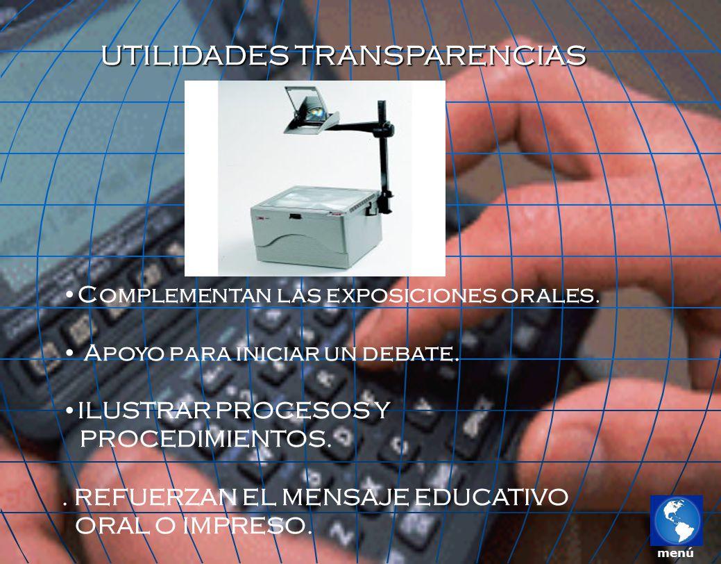 UTILIDADES TRANSPARENCIAS