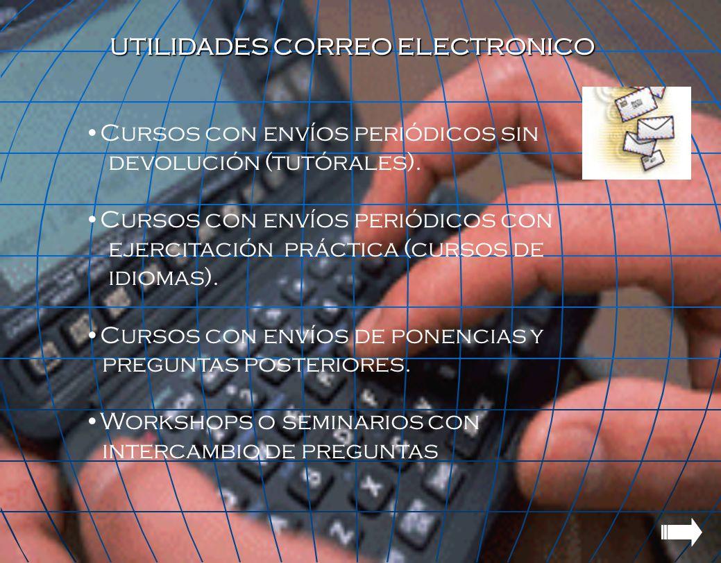 UTILIDADES CORREO ELECTRONICO