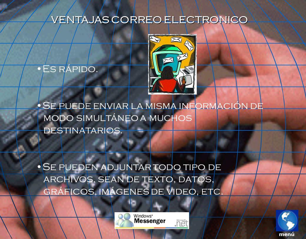 VENTAJAS CORREO ELECTRONICO