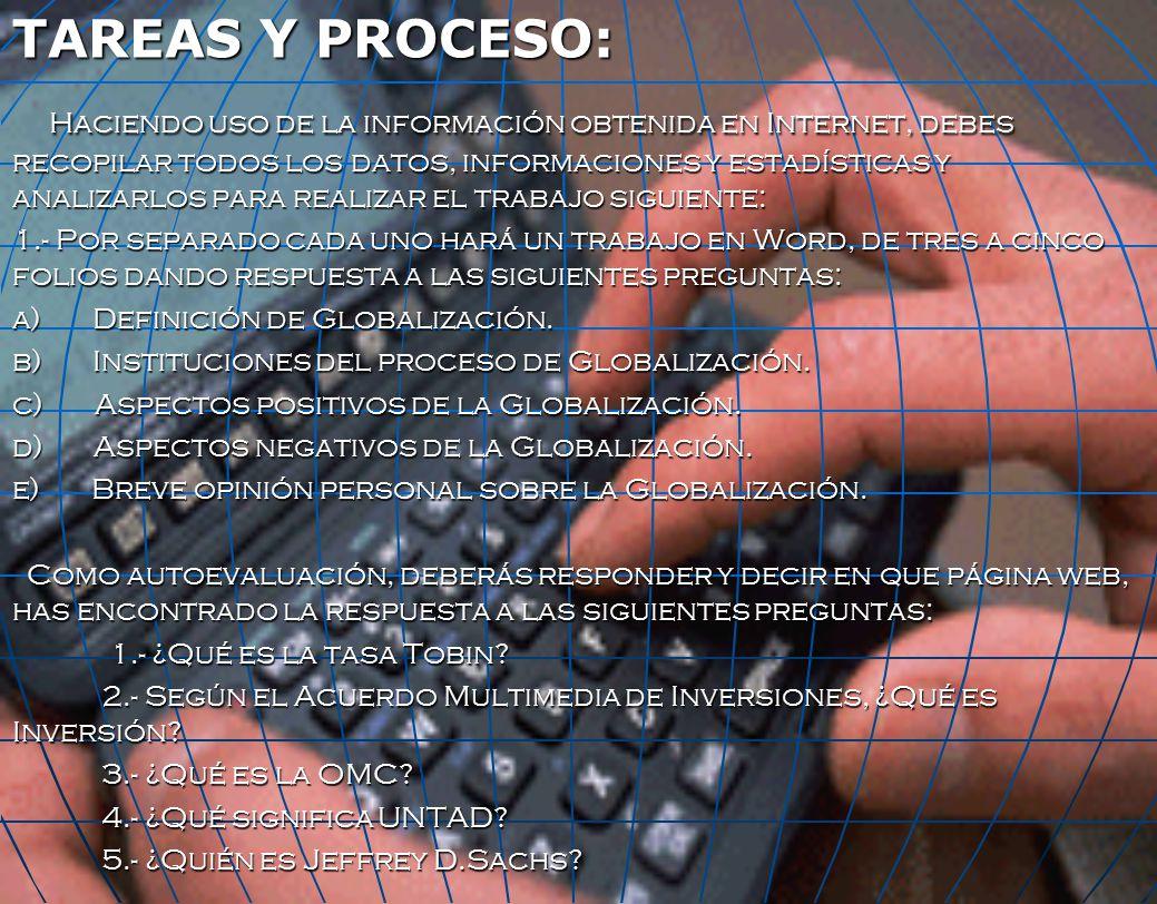 TAREAS Y PROCESO: