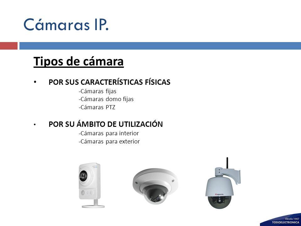Cámaras IP. Tipos de cámara POR SUS CARACTERÍSTICAS FÍSICAS