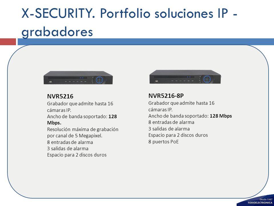 X-SECURITY. Portfolio soluciones IP - grabadores