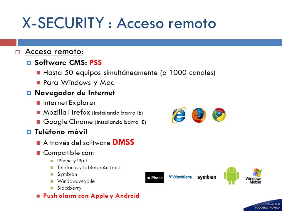 X-SECURITY : Acceso remoto