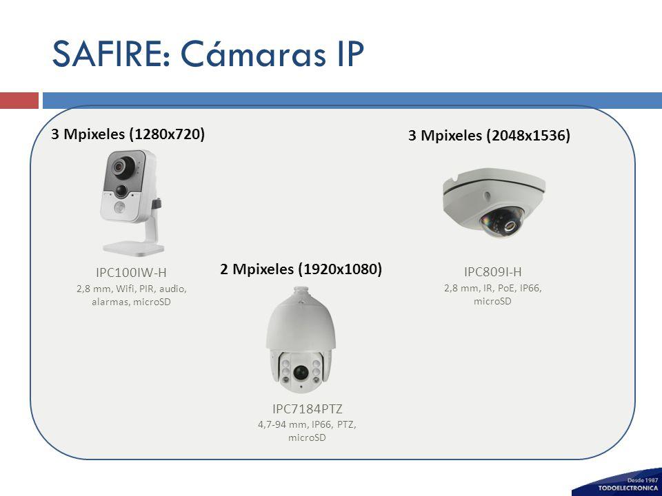 2,8 mm, Wifi, PIR, audio, alarmas, microSD