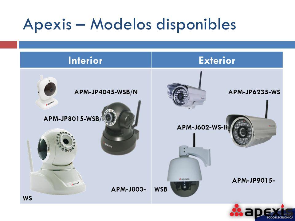 Apexis – Modelos disponibles